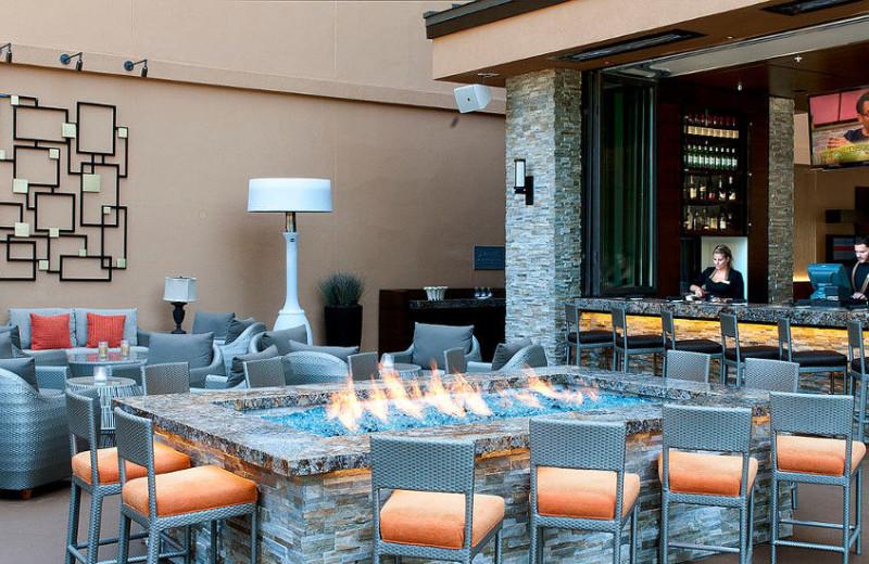 Patio at San Diego Marriott La Jolla.