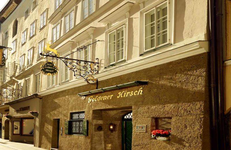 Exterior view of Hotel Goldener Hirsch.
