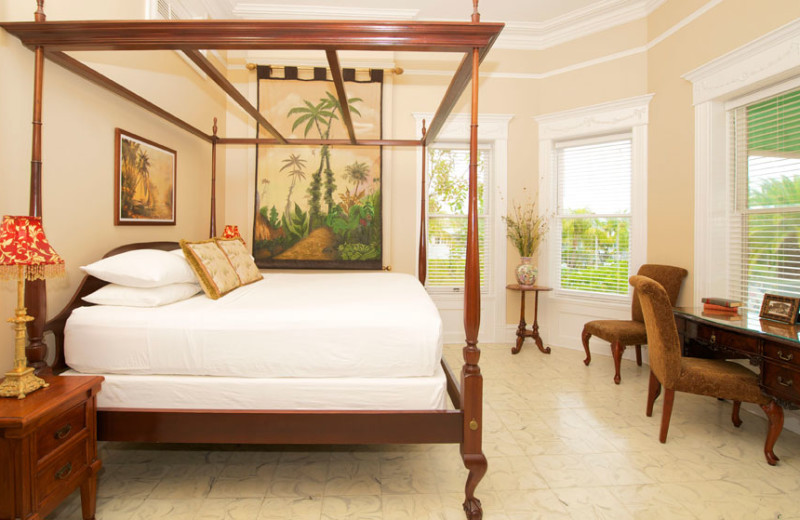 Guest bedroom at The Southernmost House.