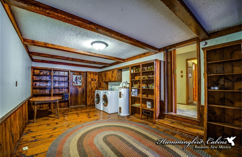 Washer/Dryer unit at Hummingbird Cabins - Timberline Townhouse Vacation Rental