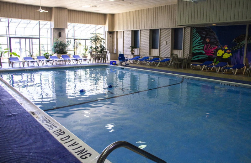 Indoor pool at Villa Roma Resort and Conference Center.