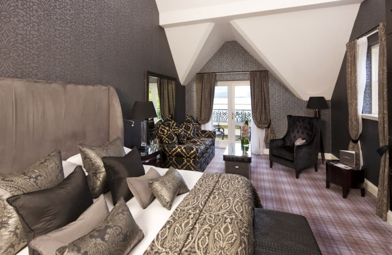 Guest room at Cameron House Hotel.