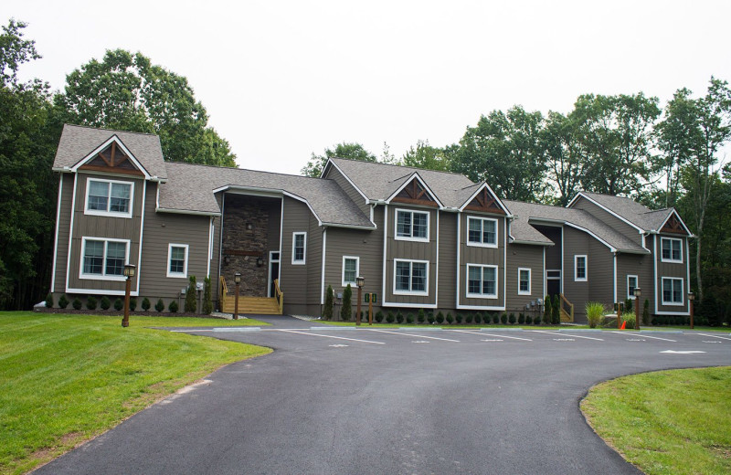 Exterior view of Woodloch Resort.