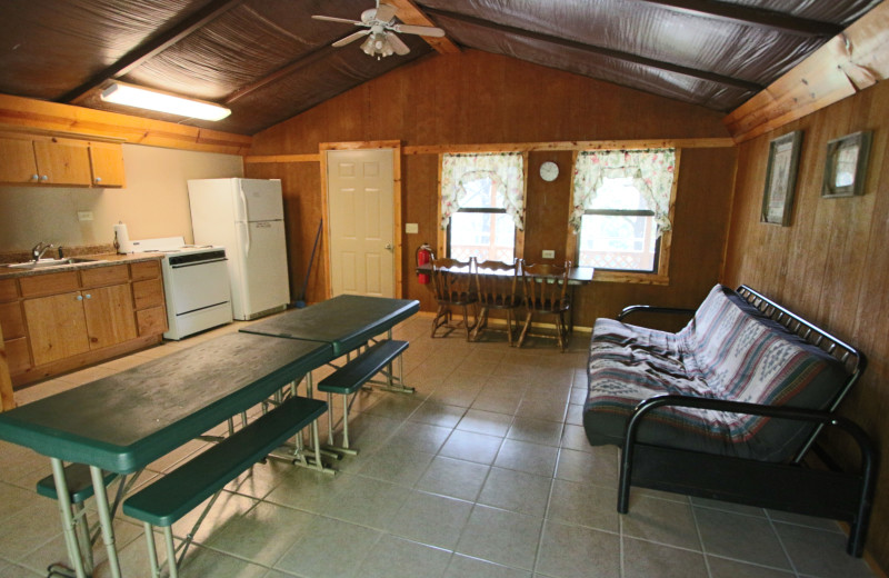 Group event room at Ozark Cabins.