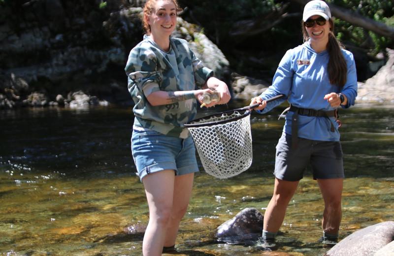Fishing at Vista Verde Ranch.