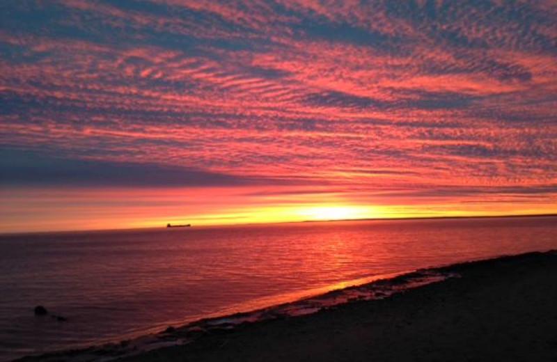 Sunset at South Pier Inn.