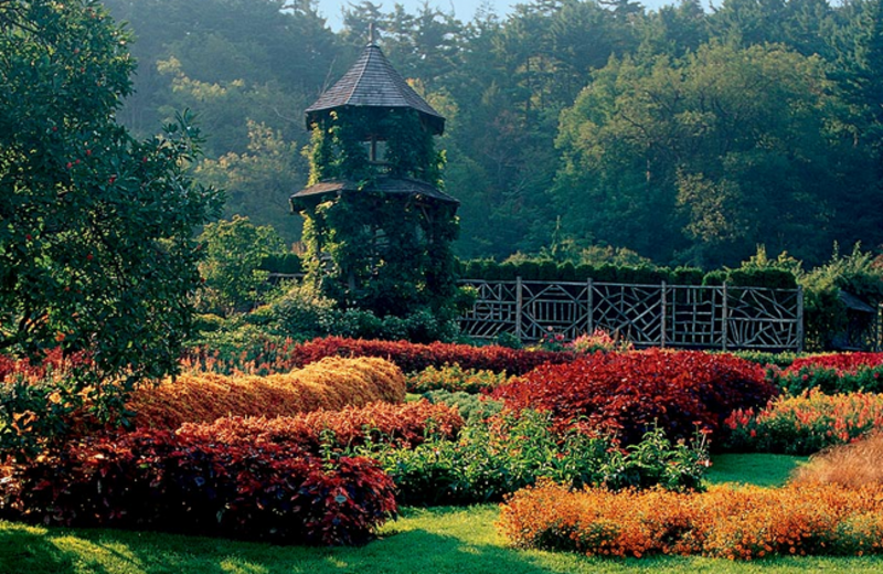Victorian gardens at Mohonk Mountain House.