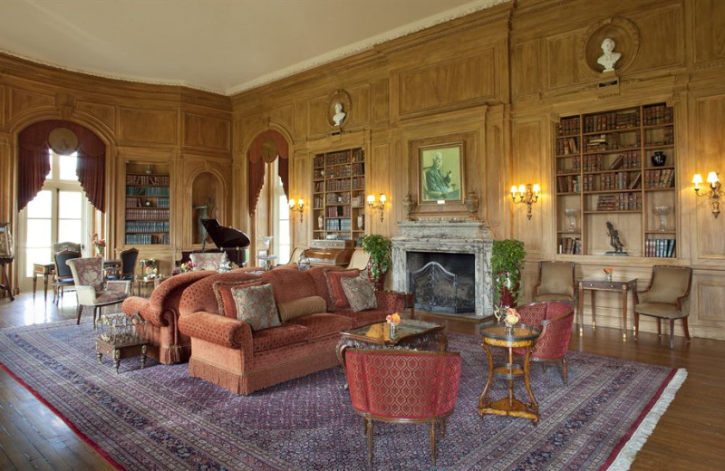 Lobby view at Oheka Castle Hotel and Estate.