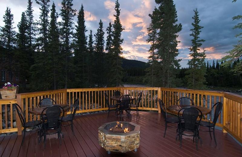 Porch at Denali Park Resorts.