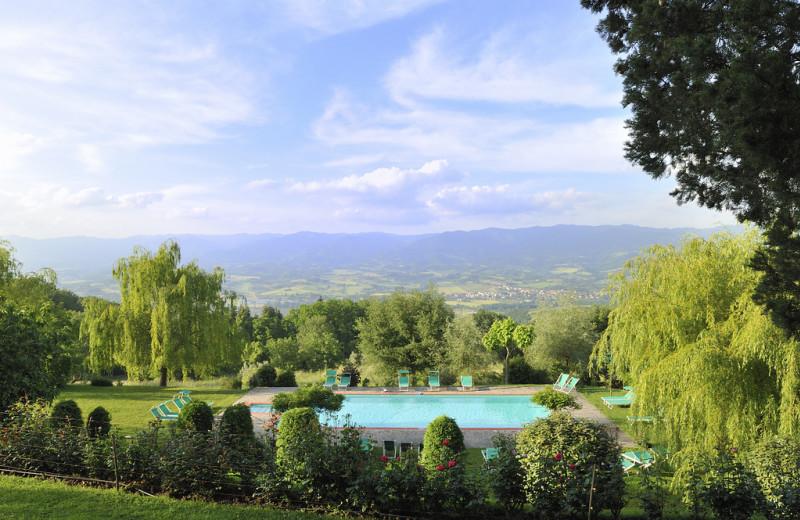 Outdoor pool at Villa Campestri.