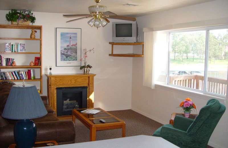 Guest room at Paradise Cove Marine Resort.