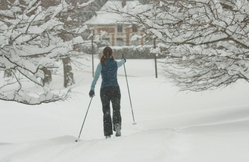 Cross country skiing at Canyon Ranch in Lenox.