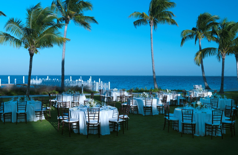 Wedding reception at South Seas Island Resort.