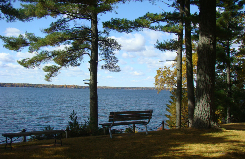 Lake view at Gull Four Seasons Resort.
