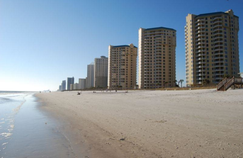 The beach at Beach Colony Resort.