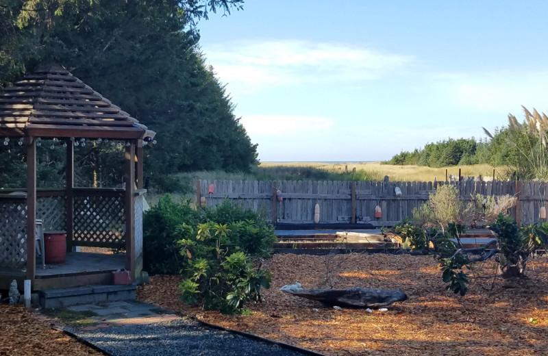 Rental yard at Oceanfront Getaways.