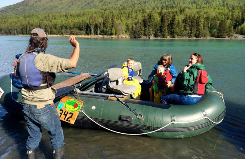 Rafting at Kenai River Drifter's Lodge.