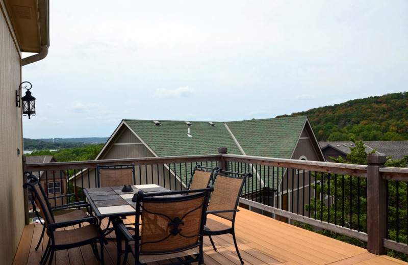 Rental deck at Vacation Home in Branson.