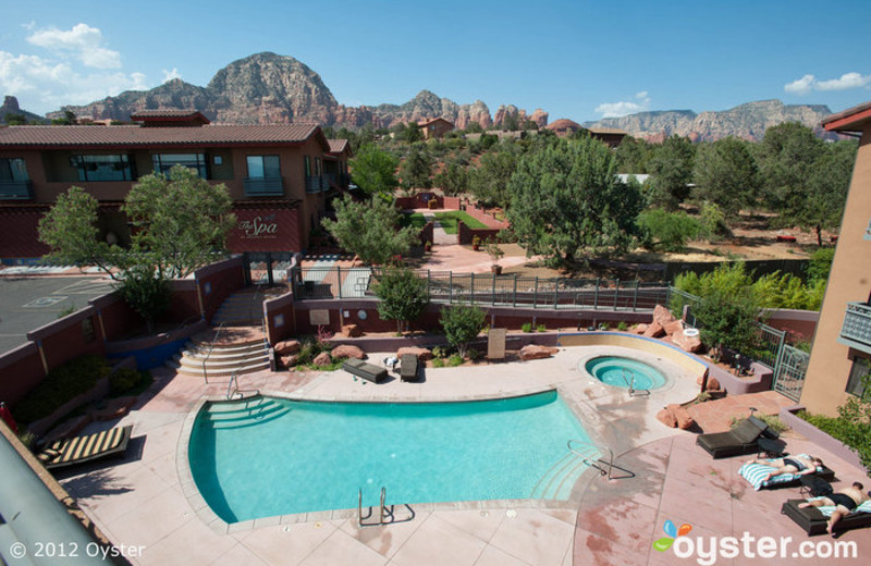 Outdoor pool at Sedona Rouge Hotel & Spa.