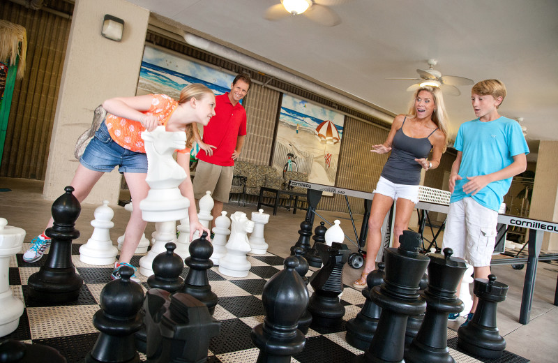 Giant chess at Ocean Reef Resort.