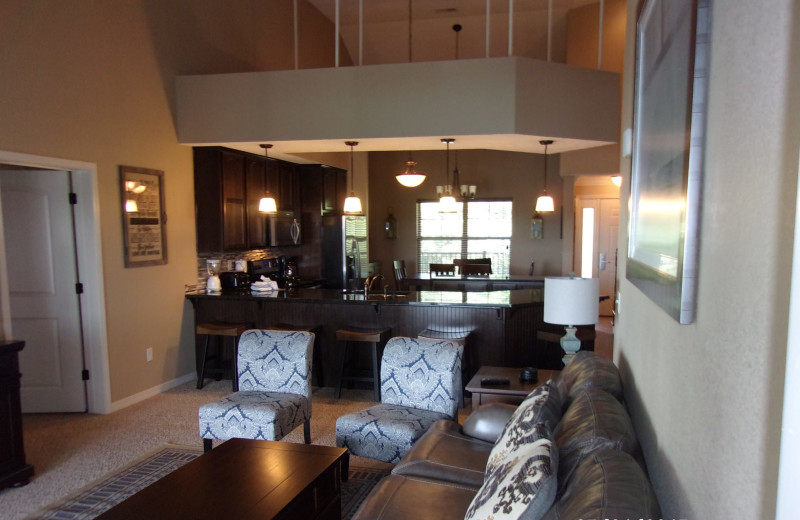 Condo interior at Thousand Hills Golf Resort.