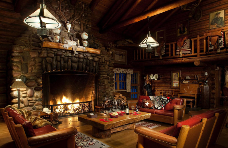 Living room at Averill's Flathead Lake Lodge.