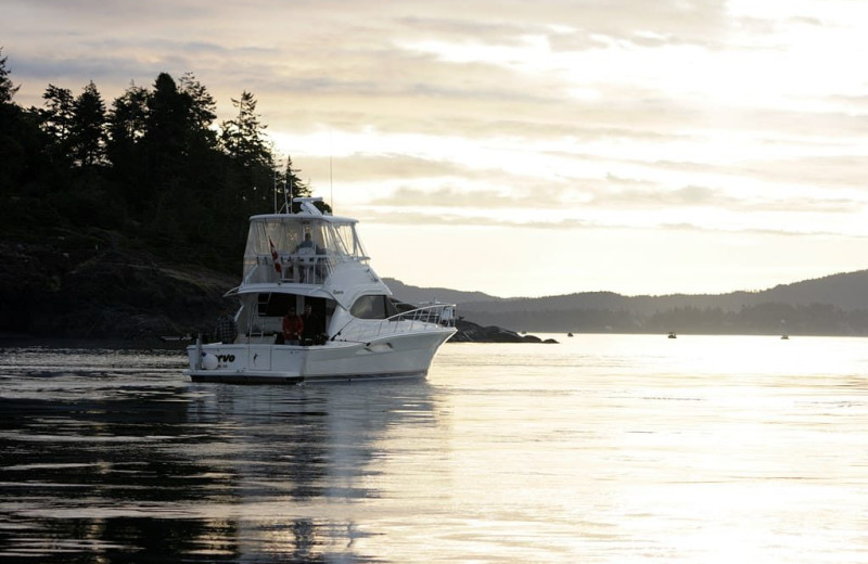Boating at Sooke Harbour Resort & Marina.