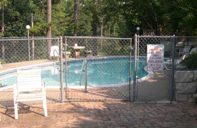 Outdoor pool at Brackenridge Lodge.