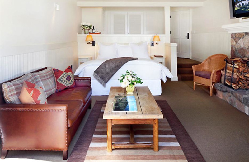 Cottage bedroom at Meadowood Napa Valley.