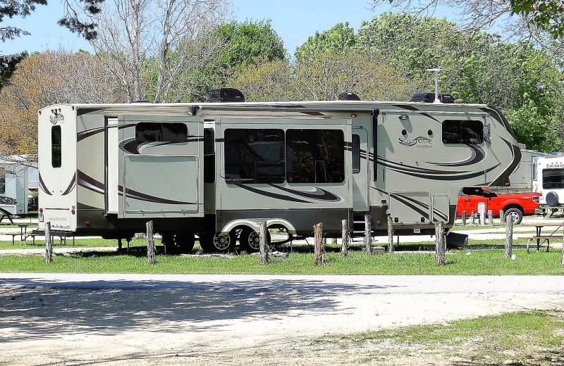 RV campground at Rio Guadalupe Resort.