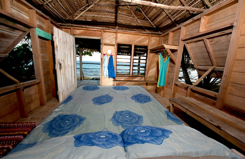 Guest room at Long Caye at Glover's Reef.