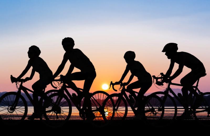 Biking at Driftwood Lodge Resort.