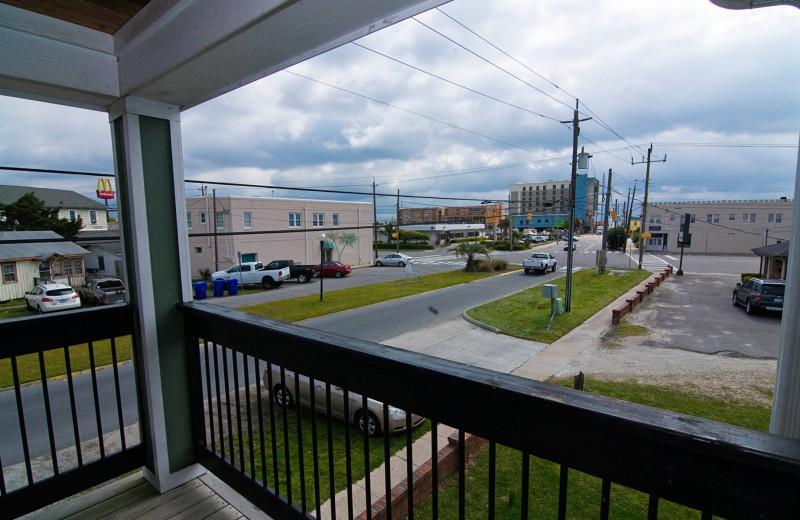 Balcony view at Carolina Beach Inn.