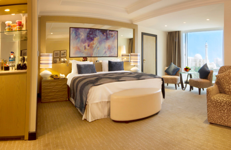 Guest room at Gulf Hotel.