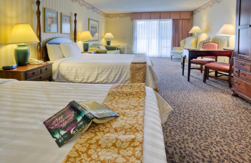 Guest room at Lake Morey Resort.