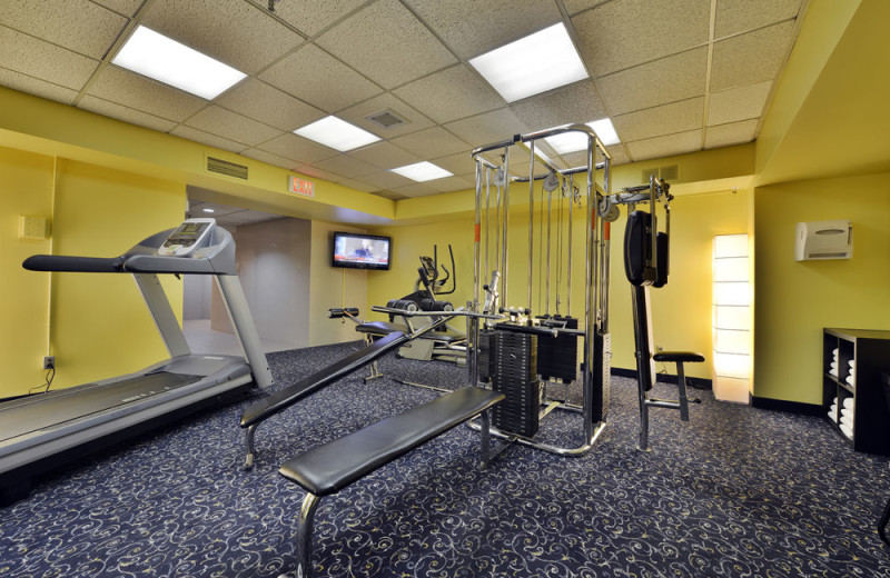 Fitness room at Embassy Hotel and Suites.