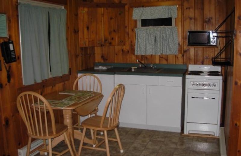 Cottage interior at Diamond Cove Cottages.