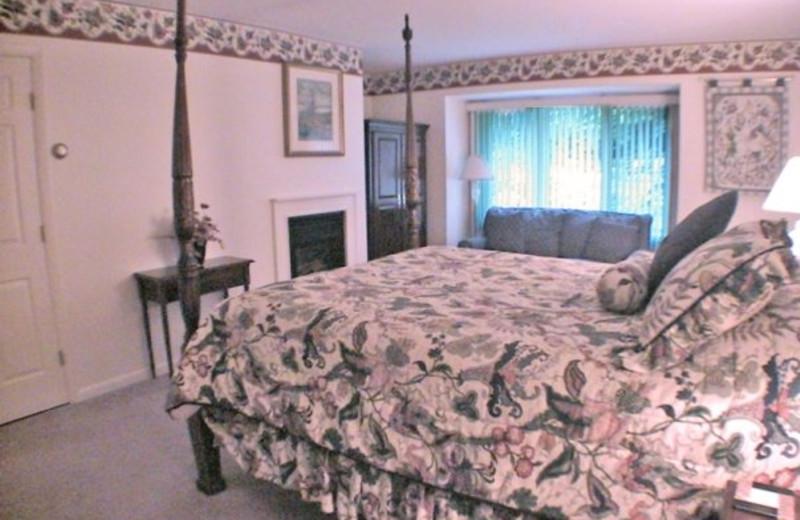 Guest bedroom at Birch Ridge Inn.