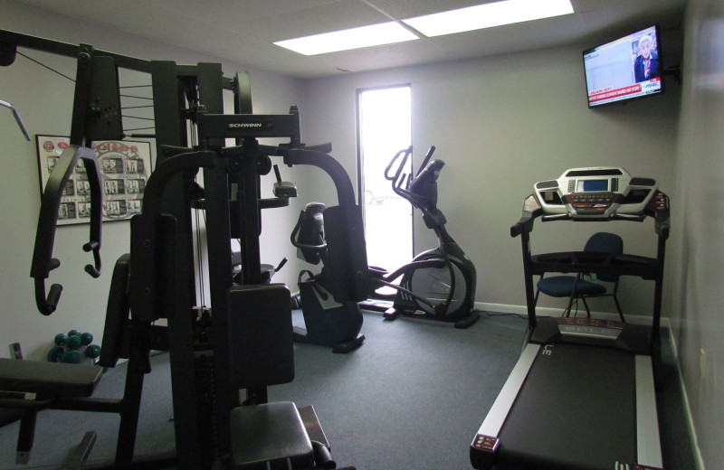 Fitness room at Moonspinner Condominium.