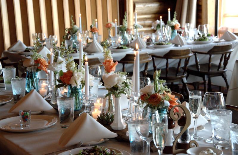 Wedding reception at C Lazy U Ranch.