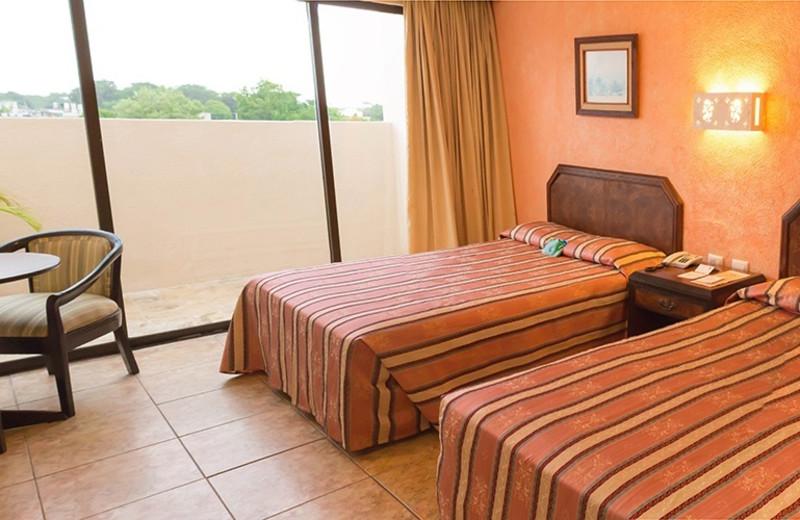 Guest room at Hotel Los Aluxes.