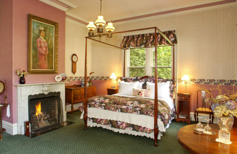 Guest bedroom at The Gables Wine Country Inn.