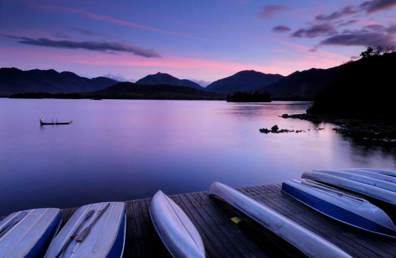 Sunset at Elk Lake Lodge.