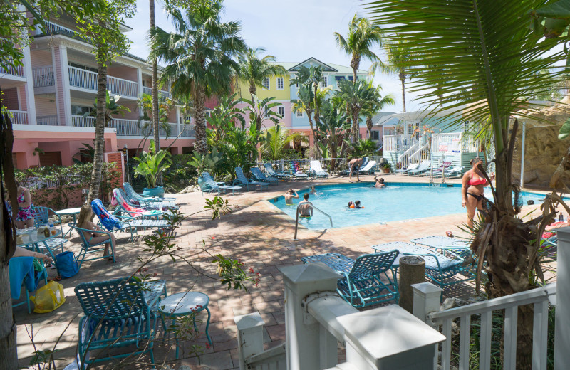 Outdoor pool at Lighthouse Resort Inn & Suites.