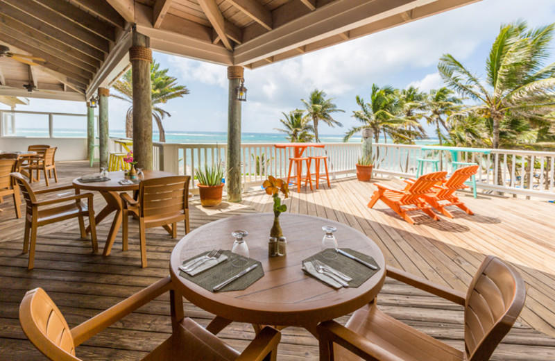 Dining at St. James's Club Antigua.