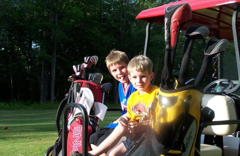 Golfing fun at Wilsons on Moosehead Lake.