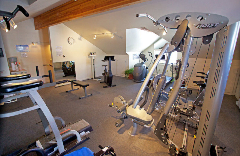 Fitness room at Rams Horn Village Resort.