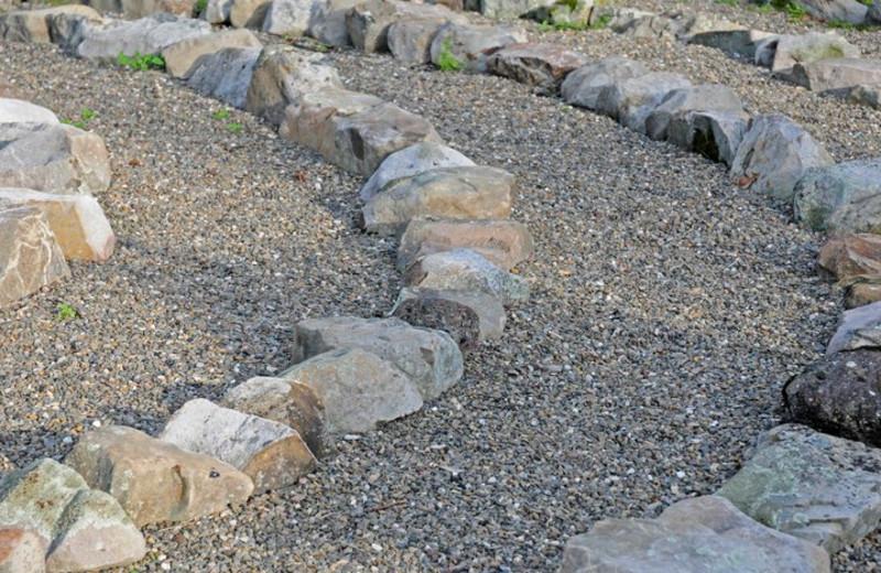Labyrinth garden at Moondance Ridge Bed & Breakfast.