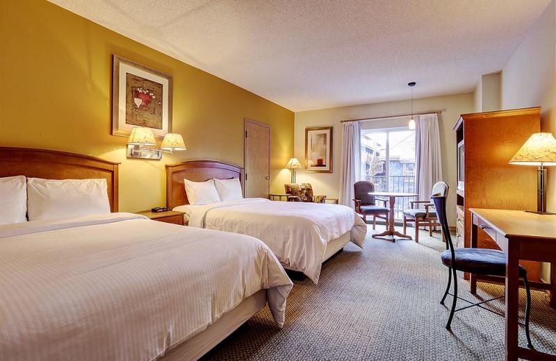 Guest room at Banff Inn.