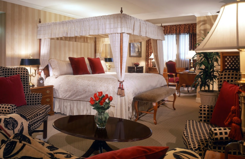 Guest suite at Stanford Park Hotel.